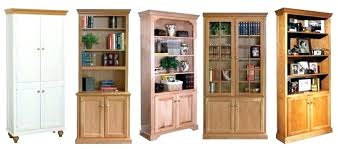 Unfinished Bookcases With Doors Closed Bookshelf Cursosfpo Info