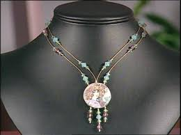 string beads necklace images Video tutorial using an intermittent stringing technique fire jpg