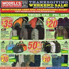 Is Sporting Goods Open On Thanksgiving Modell S Sporting Goods Black Friday Ad 2016
