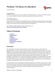 themes perfume the story of a murderer 3 free magazines from englishesf wikispaces com