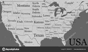 map usa y canada usa map with state boundaries and names blank black contour