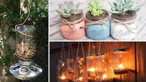 Diy Garden And Crafts - 15 incredible handmade mason jar ideas for your garden and outdoor