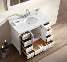 ace 43 inch single sink bathroom vanity set in white finish