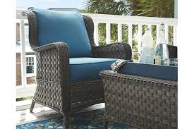 Grey Wicker Patio Furniture by Abbots Court 4 Piece Outdoor Seating Set Ashley Furniture Homestore
