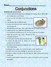 english worksheets conjunctions worksheets page 2