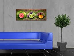 toile de cuisine tableau panoramique déco cuisine fruits sur toile imprimée