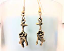 giraffe earrings etsy