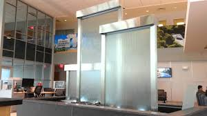 Glass Wall Design by Glass Water Walls Custom Waterfall Feature In Lobby Youtube