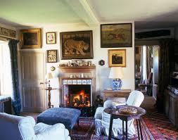 art filled sitting room delft tiles in this english home robert