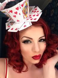 red queen halloween queen of hearts make up tutorial tricky little corset