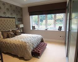 interior black bedroom roman blinds with upholstery bedding