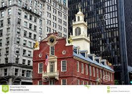 boston ma historic 1713 old state house stock photo image