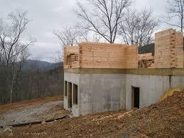 Subfloor Basement Sill Plate Subfloor And Log Stack Custom Timber Log Homes