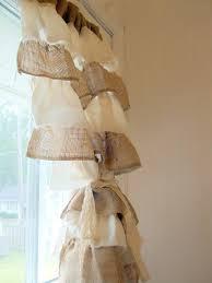 Brown Burlap Curtains White And Brown Burlap Curtain Best Curtains Design 2016