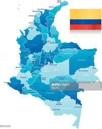 Map Of Colombia Map Of Colombia States Cities And Flag Vector Art Getty Images