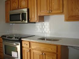 subway tile backsplashes for kitchens clean and simple kitchen backsplash white 3x6 subway tile and