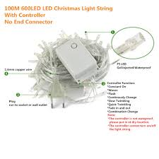 Light String Led by 100 Meter 600 Led Outdoor Led Christmas Lights Multicolor