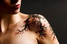 cherry blossom shoulder tattoo designs for women tattoo love