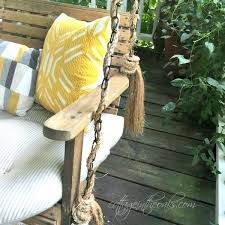 covered porch swing wrapping porch swing chain in home depot