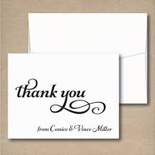 personalized thank you cards wedding thank you cards thank you from the and groom