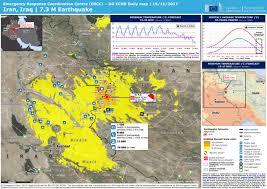 map iran iraq iran iraq 7 3 m earthquake dg echo daily map 15 11 2017