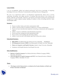 Tefl Resume Sample by Cv Sample Business Presentation Handout Docsity