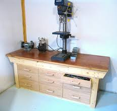 Plans For Building A Wood Workbench by Workbench Drawers