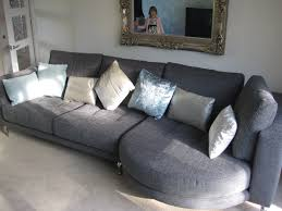 Sofa Section Rounded Chaise With Sofa Right Facing The Sofa Section