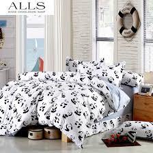wholesale black and white bedding set panda 100 cotton bed sheet