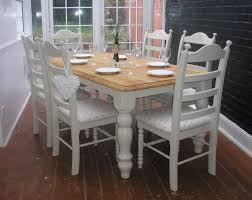 shabby chic dining room table and chairs house design ideas