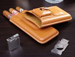 cigar gift set genoa leather travel cigar gift set latte gadget flow