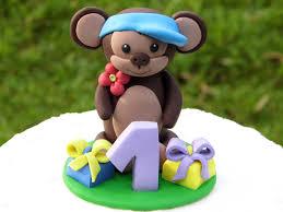 birthday monkey cake topper 1st birthday cake topper monkey