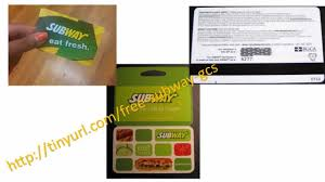 free gift cards online free subway gift cards