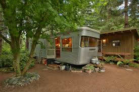 Living On One Dollar Trailer by A Little Cabin And Trailer In The Whidbey Island Woods Curbed