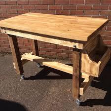 walnut breakfast bar table butchers block solid oak iroko or walnut breakfast bar table