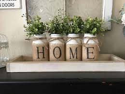 Home Decor With Burlap Country Home Decor Mason Jars With Burlap Painted Mason