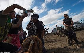 North Dakota travel security images Native american protesters clash with security over the dakota jpg
