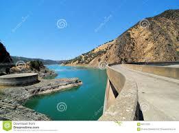 lake berryessa dam stock photo image 60213205