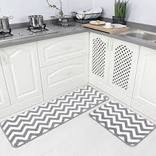 Chevron Kitchen Rug Carvapet 2 Pieces Microfiber Chevron Non Slip Soft