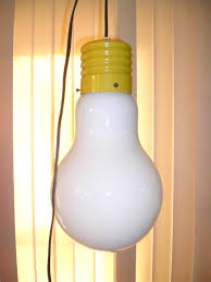 Hanging Light Bulb Fixture Mid Century 60s 70s Big Light Bulb Hanging Retro L Works