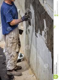 exterior basement wall waterproofing 3 stock photo image 42258147