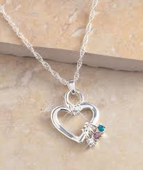 birthstone necklaces for mothers s birthstone necklace or charms ltd commodities