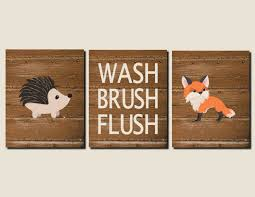 bathroom decor for kids woodland animals boy bathroom rustic