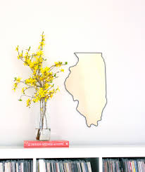 Chicago Map Wall Art by Illinois Mirror Wall Mirror State Silhouette Outline Il
