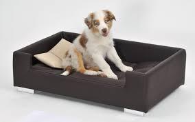canape pour canapé pour chien brun beige panier et corbeille
