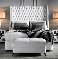 High Headboard Bed And Fitted Buttoned Headboards Buttoned Designer