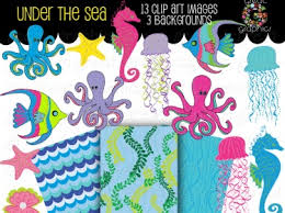 the sea party the sea party digital paper and clip printable meylah