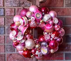 vintage pink ornament wreath knockoff mommy is coo coo
