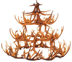 Faux Antler Chandelier Faux Rustic Whitetail Antler Chandelier 42 Antlers 27 Lights