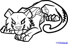 7 how to draw a zombie tiger zombie tiger